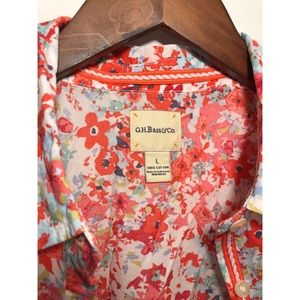 Bass company floral blouse